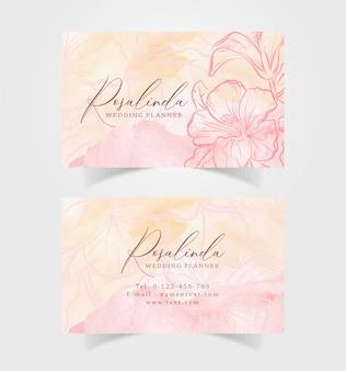 Aquarela de cartão com ilustração de flor de laranjeira