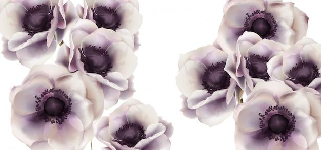 Aquarela de cartão de flores gerbera