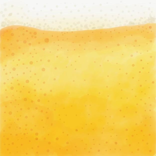 Aquarela de cerveja refrescante e espumante
