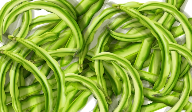 Aquarela de ervilhas verdes