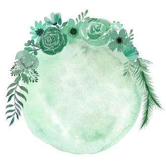 Aquarela de flores de tosca