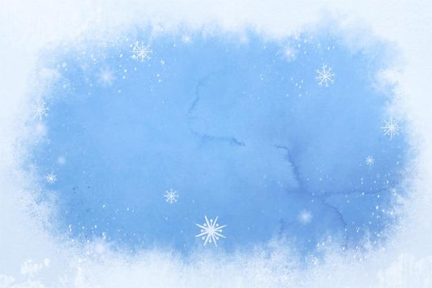 Aquarela de fundo de inverno