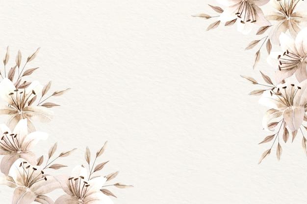 Aquarela de fundo floral com cores suaves