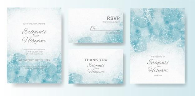 Aquarela de lindo cartão de casamento com splash
