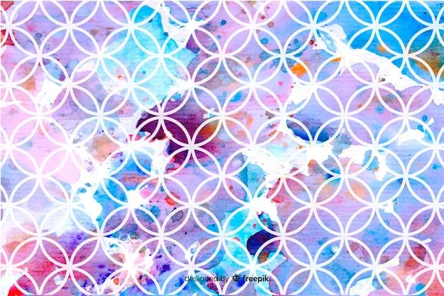 Aquarela de mosaico de fundo