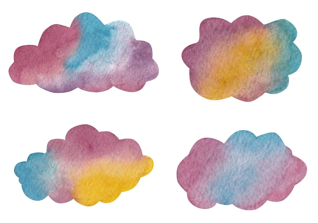 Aquarela de nuvens