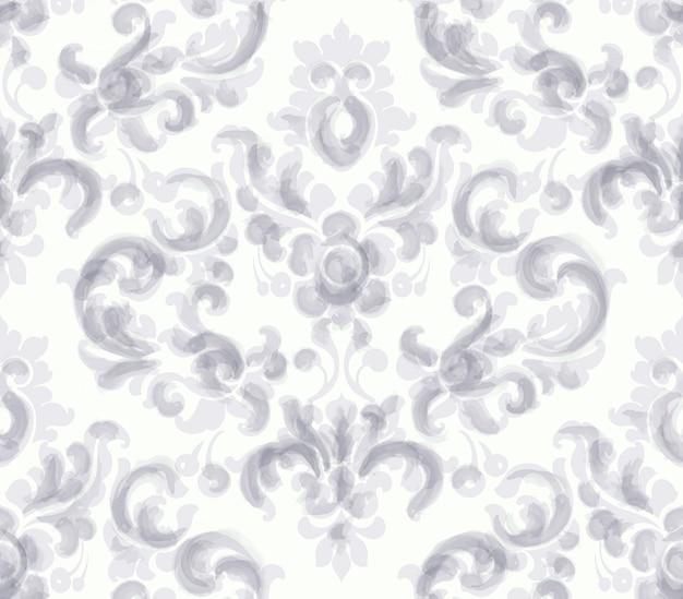 Aquarela de padrão clássico ornamento elegante. texturas de cores delicadas bege