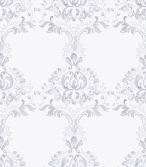 Aquarela de padrão clássico ornamento elegante. texturas de cores delicadas de lavanda