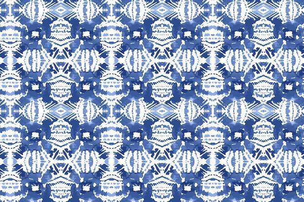Aquarela de padrão shibori tradicional