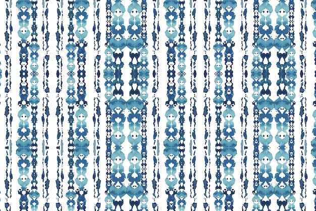 Aquarela de padrão tradicional shibori