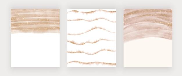 Aquarela de pincelada de ouro rosa salpicos com textura de glitter