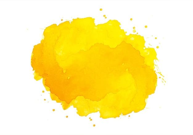 Aquarela de respingo laranja abstrata