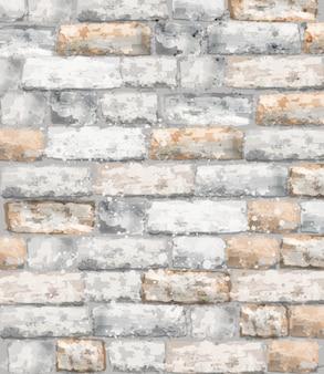 Aquarela de textura de tijolos. decorações em pedra