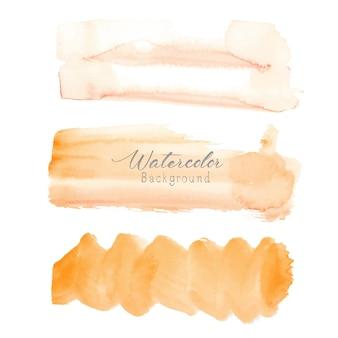 Aquarela de traçado de pincel laranja em fundo branco.