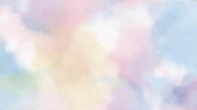 Aquarela de unicórnio pastel arco-íris no fundo abstrato de papel