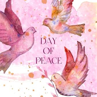 Aquarela dia internacional da paz