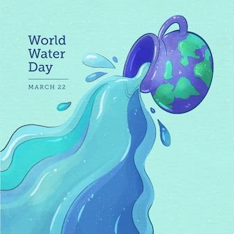 Aquarela do dia mundial da água