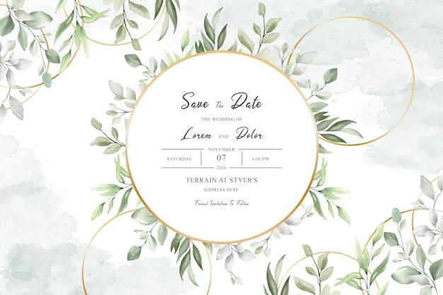 Aquarela elegante de design de múltiplos propósitos de quadros de casamento