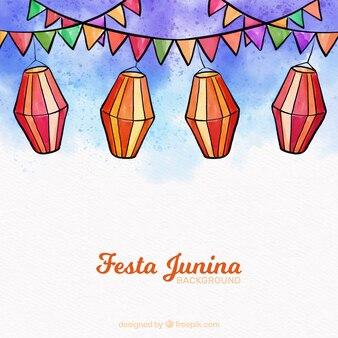 Aquarela festa junina fundo