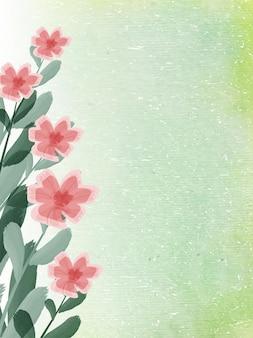 Aquarela floral abstrato verde