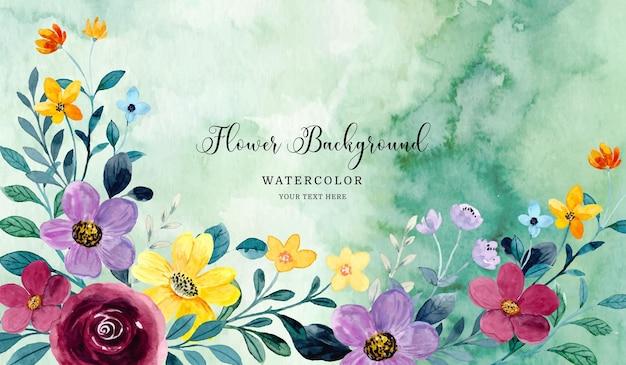 Aquarela floral colorida