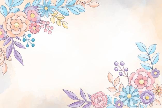 Aquarela floral fundo em tons pastel