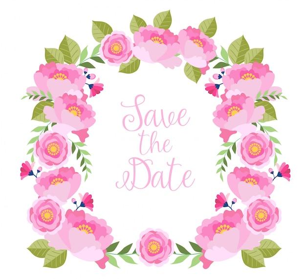 Aquarela floral ilustração para salvar a data