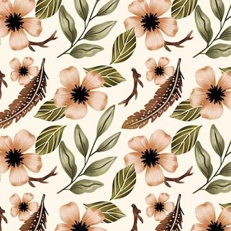Aquarela floral padrão sem emenda