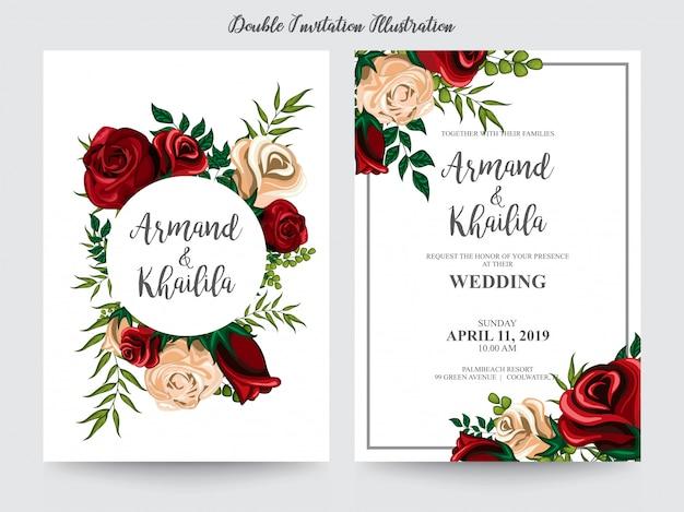 Aquarela floral para ilustração de design de convite