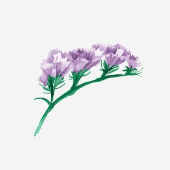 Aquarela floral roxa