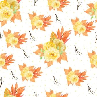 Aquarela floral seamless pattern