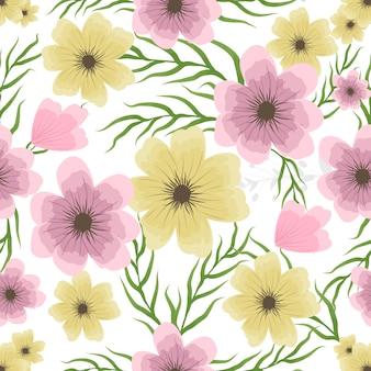 Aquarela floral sem costura para convite de casamento