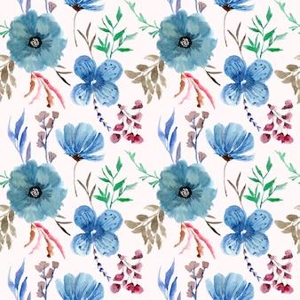 Aquarela floral sem costura pattren