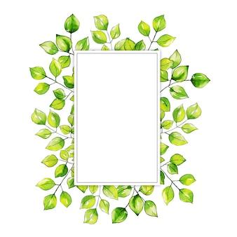Aquarela folhas Frame