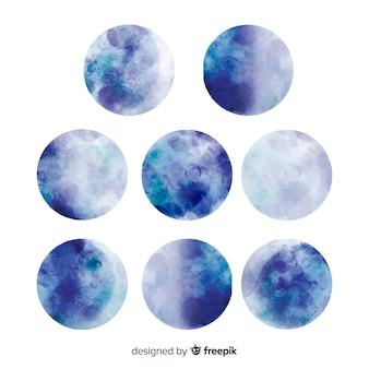 Aquarela linda coleção de lua cheia
