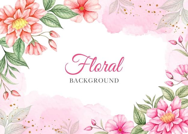 Aquarela linda primavera floral