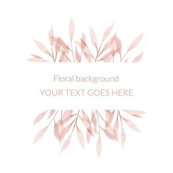 Aquarela moldura floral. fundo multiuso