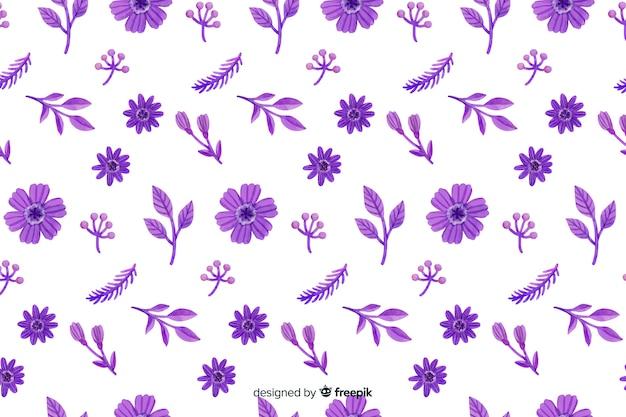 Aquarela monocromática de fundo floral
