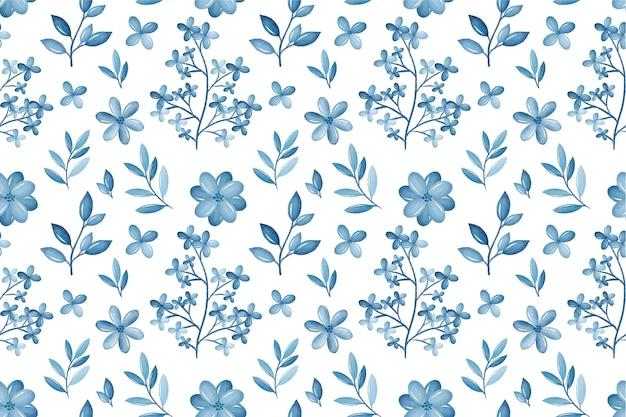Aquarela monocromática floral de fundo