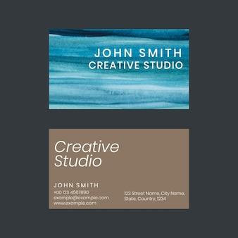 Aquarela ombre de modelo de cartão de visita para artistas criativos Vetor grátis