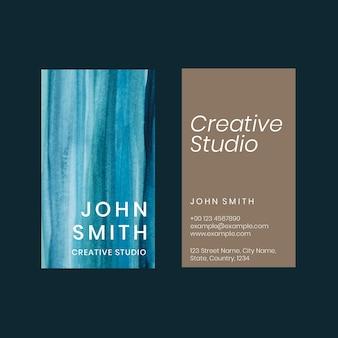 Aquarela ombre de modelo de cartão de visita para artistas criativos
