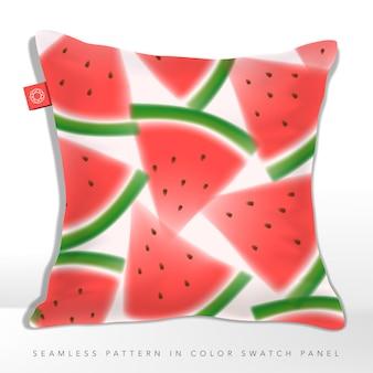 Aquarela ou efeito desfocado melancia seamless graphic ou tecido padrão