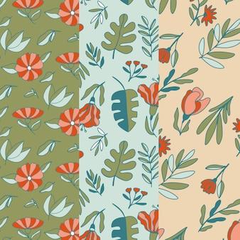 Aquarela pacote de padrões de primavera
