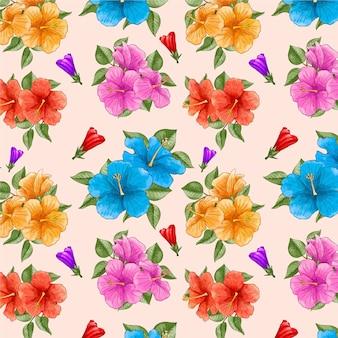 Aquarela padrão floral