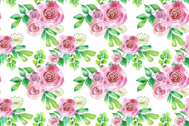 Aquarela padrão floral Vetor grátis