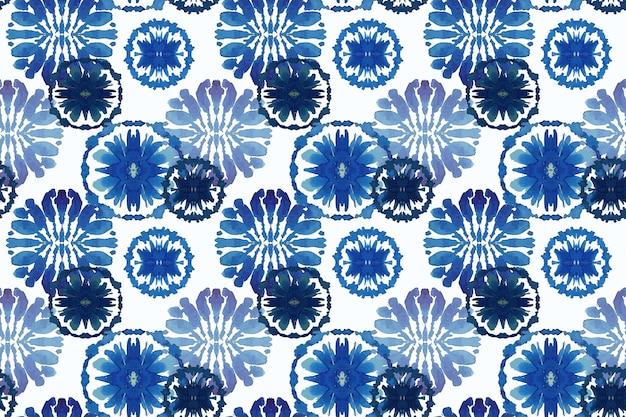 Aquarela padrão shibori tradicional
