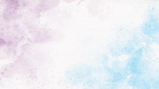 Aquarela pastel azul e violeta