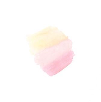Aquarela rosa e pêssego respingo em branco