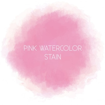 Aquarela rosa mancha arredondada