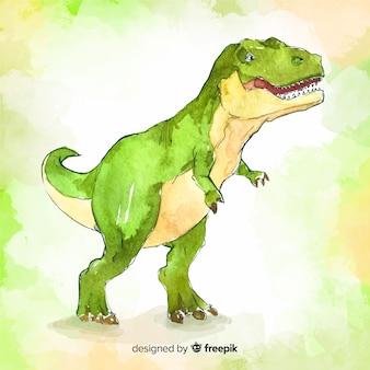Aquarela t-rex